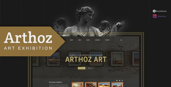 Best Art Exhibition Elementor Template kit