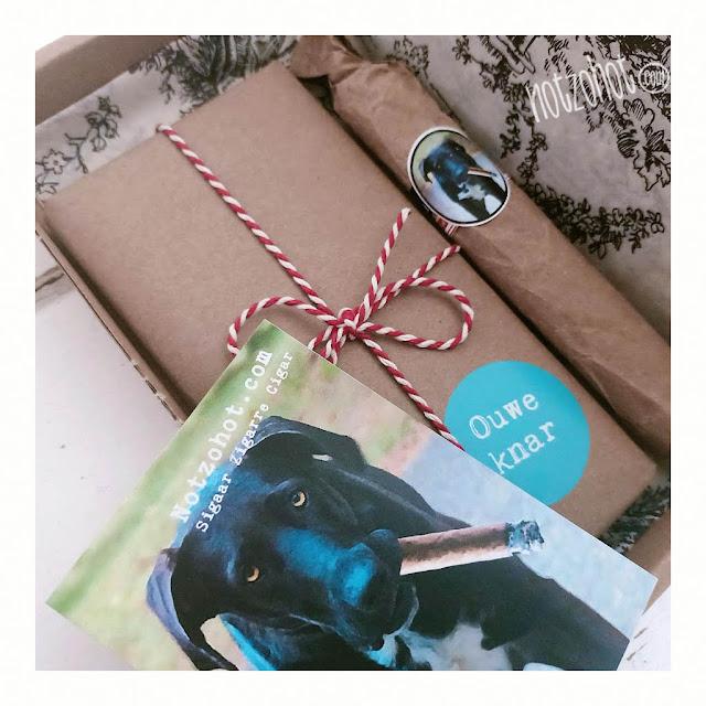Senioren hond cadeau grappig brievenbus cadeau hond