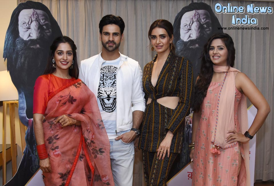 From left Dipika Kakkar, Vivek Dahiya, Karishma Tanna and Dalljiet Kaur aka Deepa from Qayamat Ki Raat