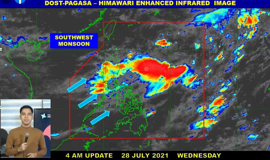 'Habagat' PAGASA weather update July 28, 2021