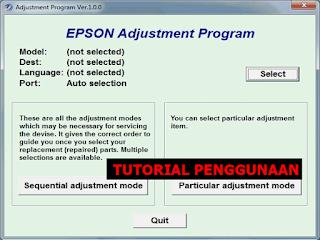 Resetter Printer Epson T13 Windows 7, 8 Dan 10
