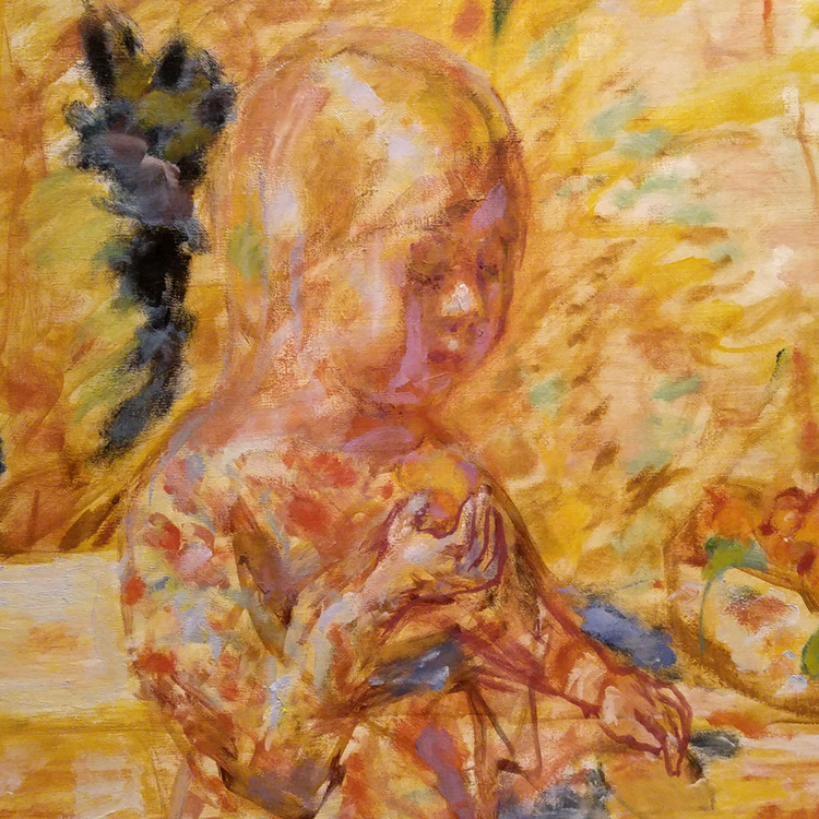 precious little girl detail from pierre bonnard painting