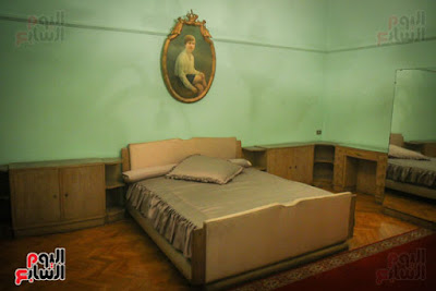 Alleged King Farouk's bedroom at the Royal Guesthouse in  Helwan