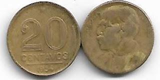 20 centavos, 1954