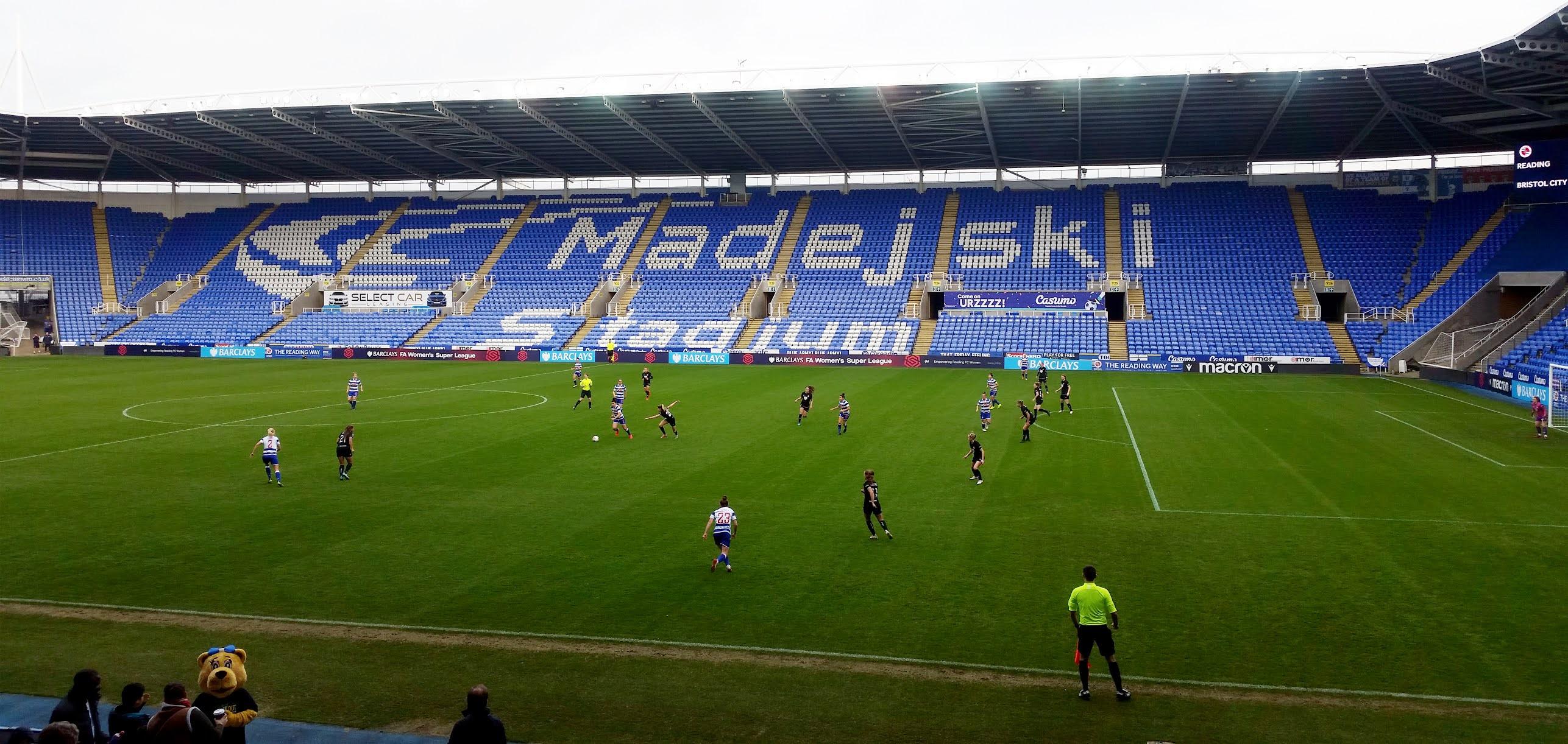 Reading Women take on Bristol City Women at the Madejski Stadium