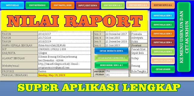 APLIKASI NILAI RAPOR SMA/SMK KURIKULUM 2013 TAHUN 2016-2019