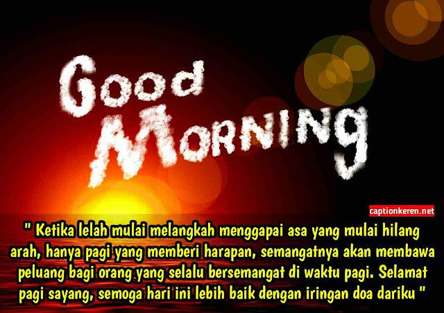 Kata-kata mutiara ucapan selamat pagi romantis