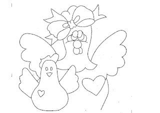 desenho de mamae galinha com pintinho para pintar em tecido