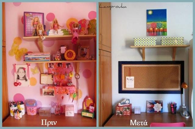 Μεταμόρφωση παιδικού δωματίου-το γραφείο.
