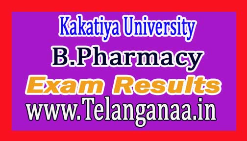 Kakatiya University B.Pharmacy 2nd year 1st semester Results 2016
