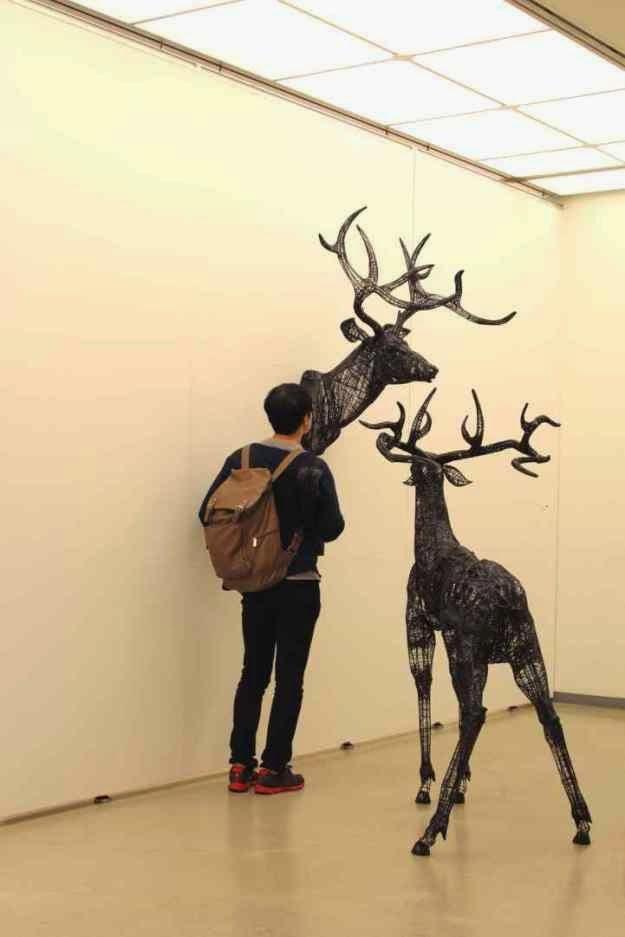 esculturas de alambres