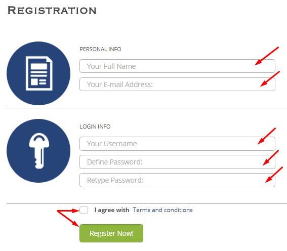 Регистрация в PerfectCash 1
