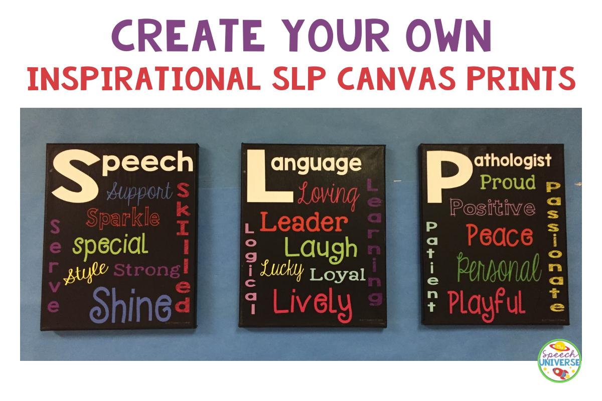 create SLP canvas print