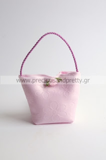 Christening favors for girl pink bags B21