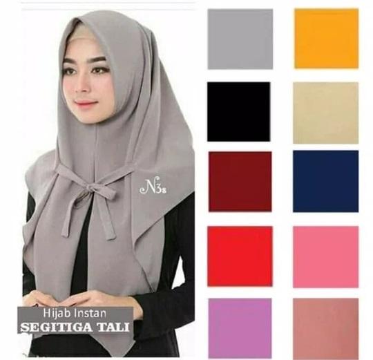 Jilbab Instan Segitiga Tali Cantik - Hijab Segitiga Tali Premium Murah