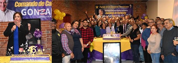 En histórico y masivo acto del 46 aniversario el PLD en Nueva Inglaterra reafirma apoyo al Gobierno y a Gonzalo