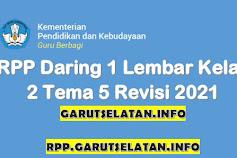 RPP Daring 1 Lembar SD/MI Kelas 2 Tema 5 Revisi 2021