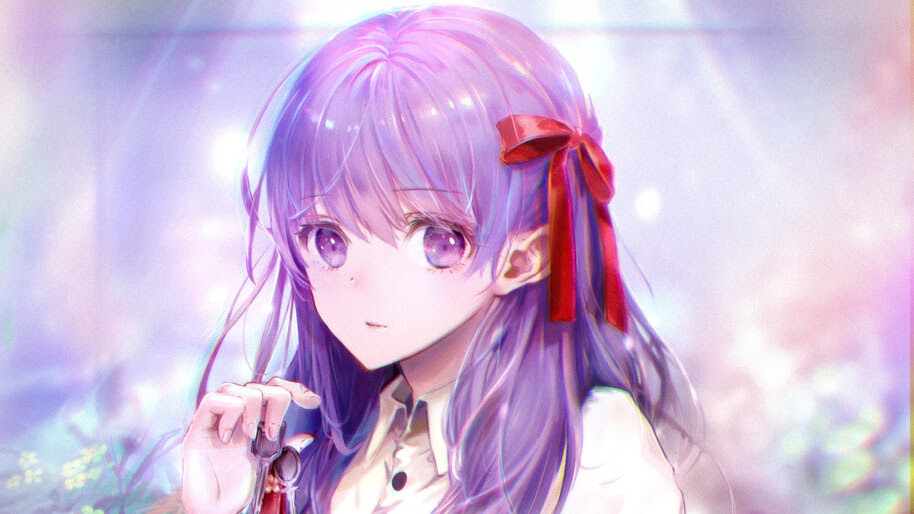 Beautiful, Anime, Girl, Purple, Hair, Matou, Sakura, Fate/Grand Order, 4K, #6.1024
