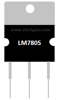LM7805 ic and transistor