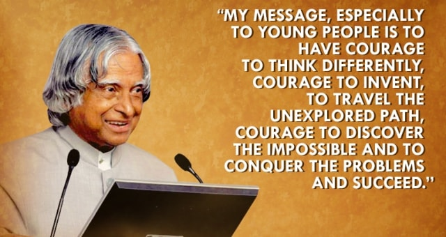 20 Inspiring Quotes From Missile Man Of India- A.P.J Abdul