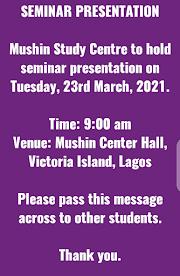 NOTICE TO ALL STUDENTS-SEMINAR PRESENTATION