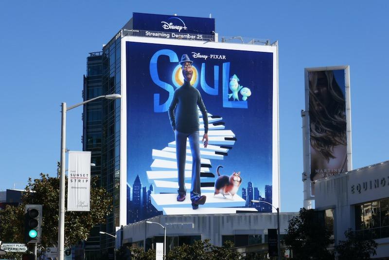 Giant Disney Pixar Soul movie billboard