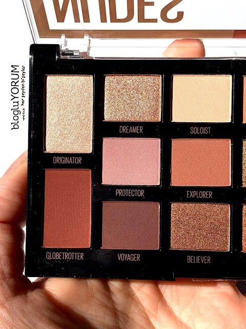 maybelline nudes of new york far paletini inceliyorum swatch