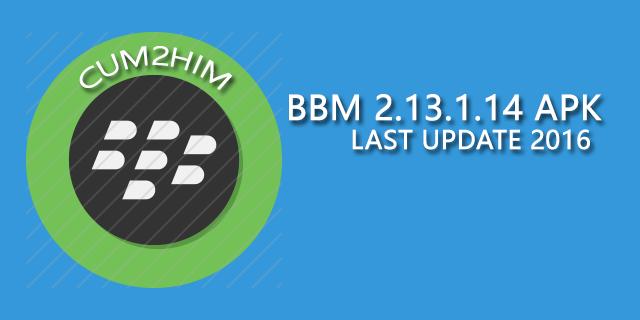 Download BBM 2.13.1.14 APK Terbaru Untuk Android