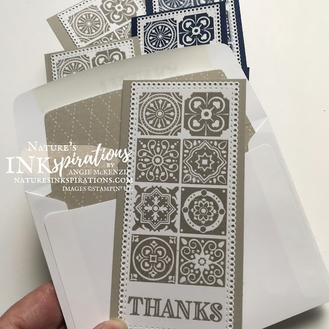By Angie McKenzie for Crafty Collaborations Share it Sunday Blog Hop; Click READ or VISIT to go to my blog for details! Featuring the retiring Today's Tiles Stamp Set and the carryover Ornate Thanks Stamp Set and Ornate Layers Dies by Stampin' Up!; #occasioncards #thankyoucards #minislimlinecards #stamping #shareitsunday #shareitsundaybloghop #todaystilesstampset #20202021annualcatalog #ornatethanksstampset #ornatelayersdies #simplestamping #stamparatus #multiplecardsmadeeasy #naturesinkspirations #makingotherssmileonecreationatatime #cardtechniques #stampinup #stampinupink #handmadecards
