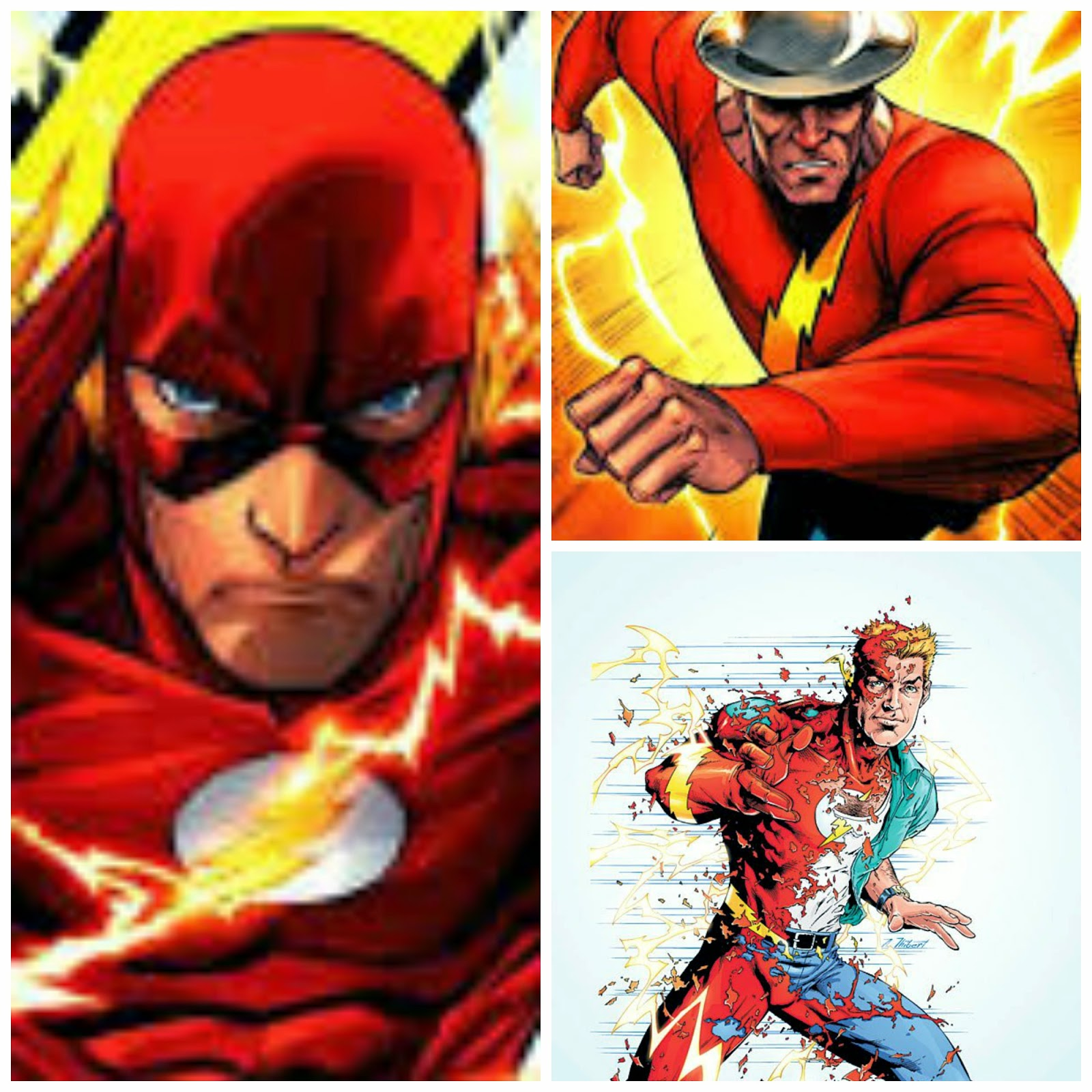 Jay Garrick, Barry Allen y Wally West. The Flash