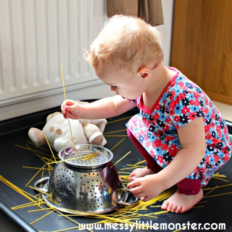 activities for babies - pasta play