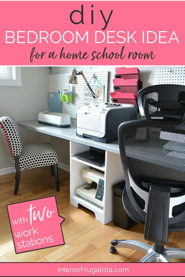 DIY Bedroom Home School Desk