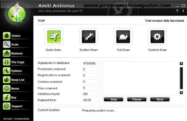 تحميل برنامج الحماية من الفيروسات Amiti Antivirus 2016