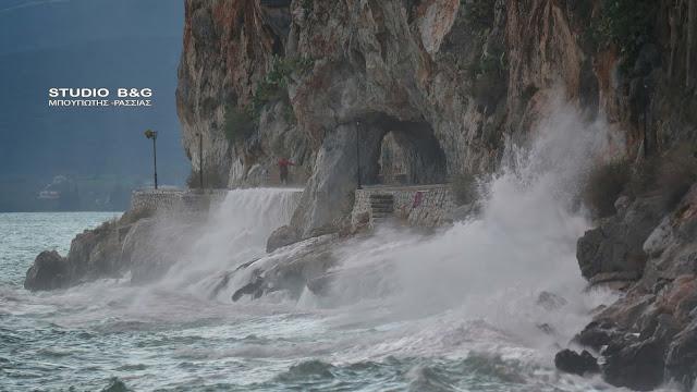 Με έντονα φαινόμενα το πέρασμα της κακοκαιρίας από το Ναύπλιο (βίντεο)