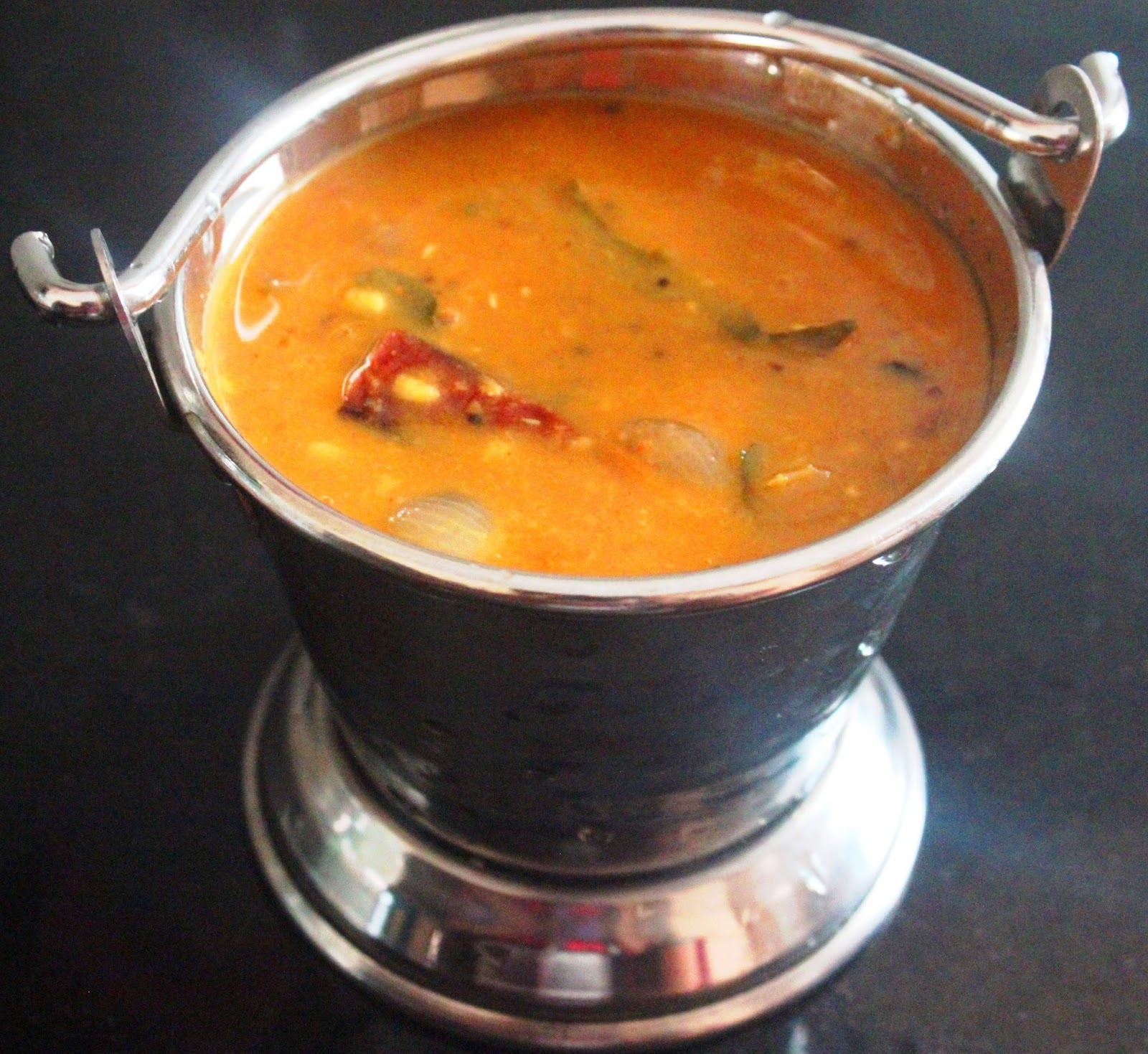 Moong dal Sambar (Payatham Paruppu Sambhar)