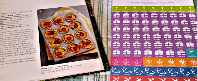 Recipe page and stickers