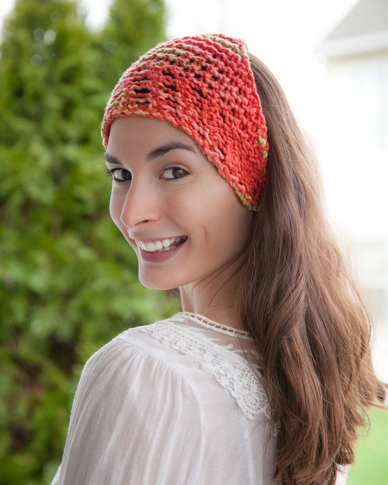 Knitted Head Scarf Pattern : Loom Knitting by This Moment is Good!: LOOM KNIT HEAD WRAP/BANDANNA
