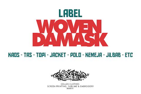 100+ Contoh Hasil Produksi Label Woven Damask