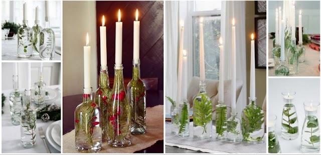 Εντυπωσιακά, γιορτινά, πρωτότυπα και ελάχιστου κόστους κηροπήγια από Γυάλινα Μπουκάλια