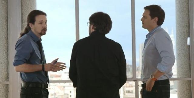 Cara a cara bronco entre Albert Rivera y Pablo Iglesias