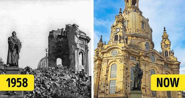 Nằm ở thành phố Dresden của nước Đức, cũng như nhiều công trình lịch sử khác, Frauenkirche phải hứng chịu nhiều sự tàn phá nặng nề trong quá khứ. Những bức tường của nhà thờ hầu như đều bị sụp đổ hoàn toàn. Mãi đến năm 2005, quá trình phục dựng lại công trình tuyệt mĩ này mới hoàn thành. Sau đó, nơi đây nhanh chóng trở thành một trong những biểu tượng lịch sử quan trọng của nước Đức.