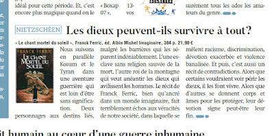 Le Chant mortel du Soleil de Franck Ferric dans le magazine belge Maxx