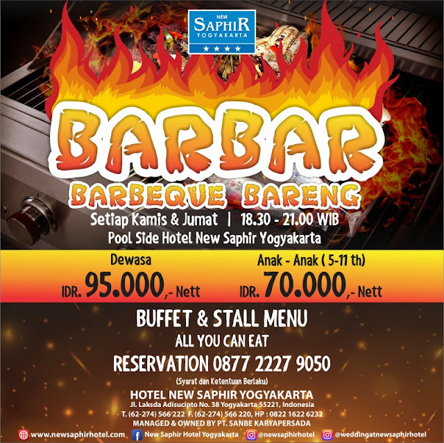 BarBar, Barbeque Bareng ala New Saphir Yogyakarta