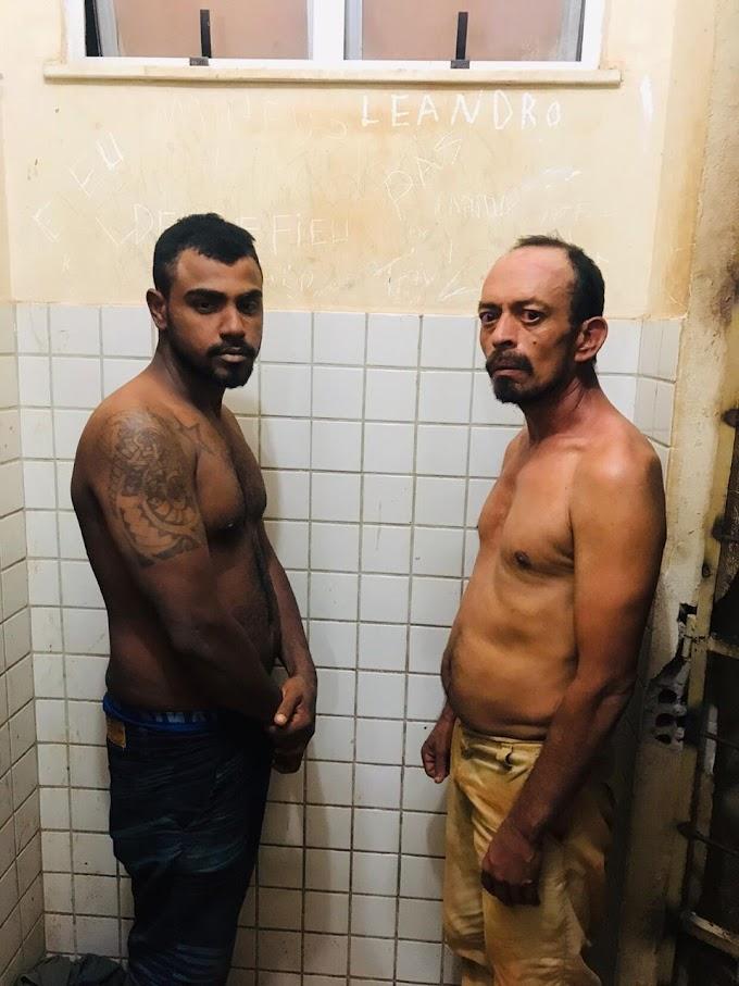 Dois homens foram presos por tráfico de entorpecentes e posse ilegal de arma de fogo em Jacareacanga.
