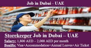 Storekeeper Jobs Recruitment In Industry Construction Dubai, UAE