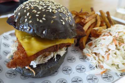 Phat Burger Bro., southern fried chicken burger