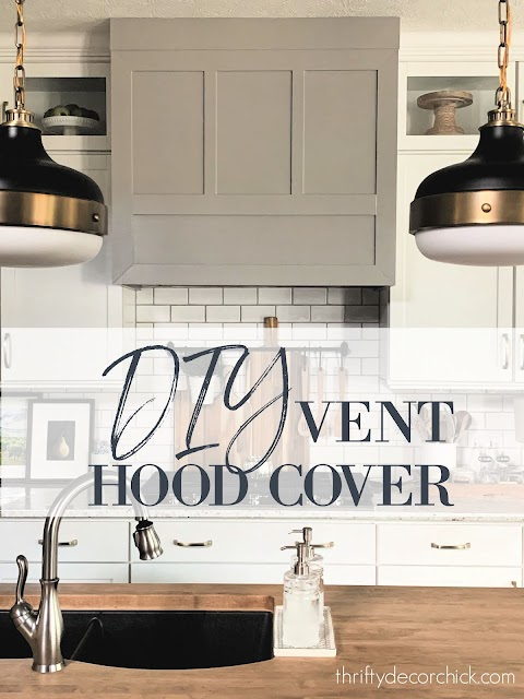 How to build a {modern} DIY vent hood from Thrifty Decor Chick