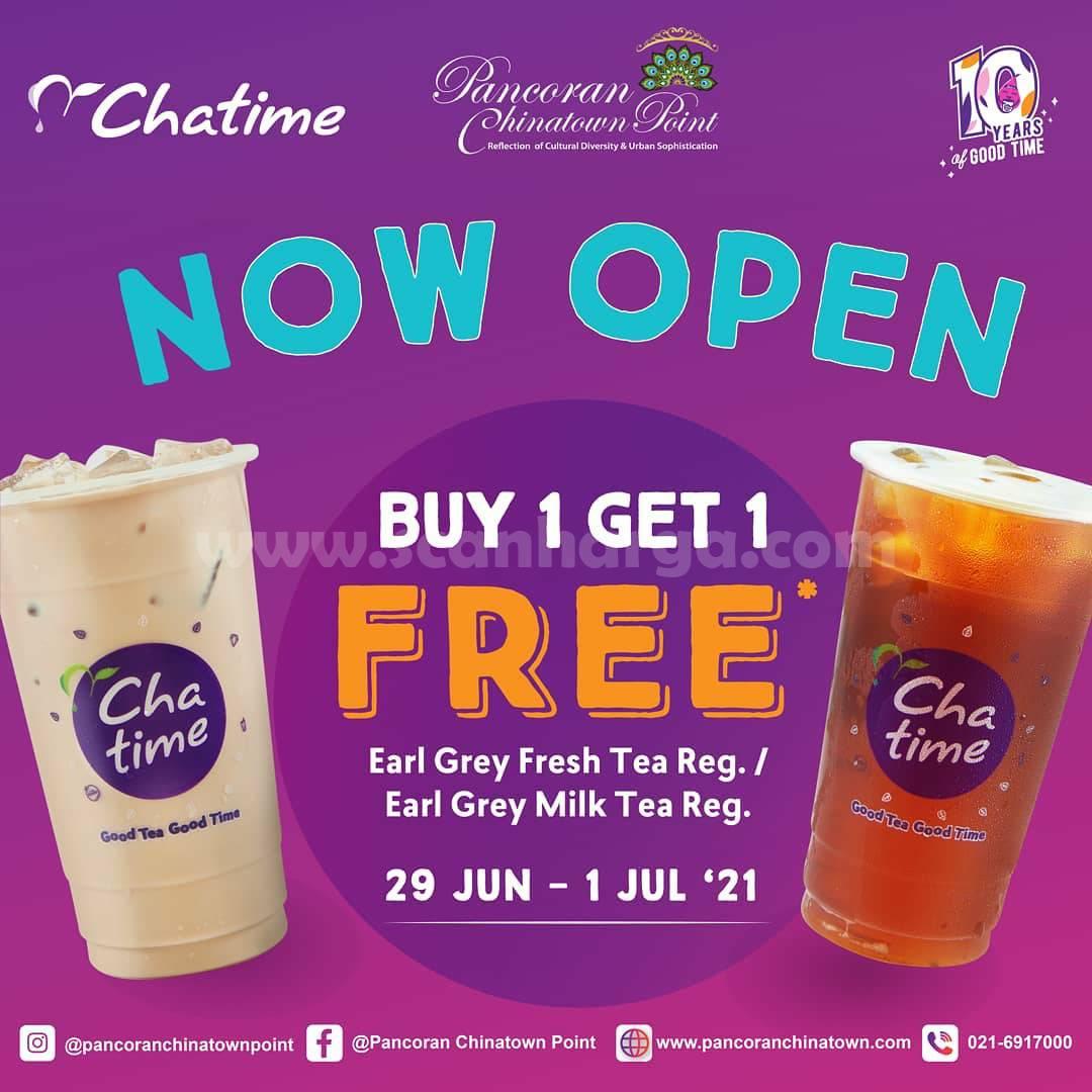 Chatime Pancoran Chinatown Point Opening Promo Beli 1 Gratis 1