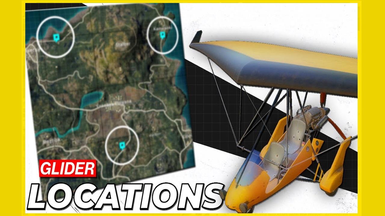 PUBG Mobile v 1.3 : How to find Motor Glider Vehicle