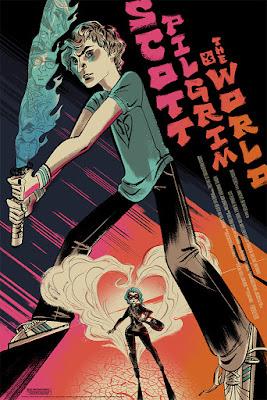 Scott Pilgrim vs The World Movie Poster Screen Print by Anne Benjamin x Mondo